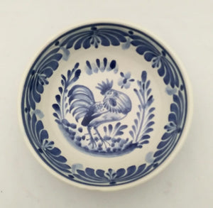 Rooster Cereal/Soup Bowl 16.9 Oz Blue and White