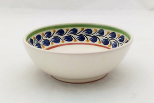 Bird Cereal Bowl 16.9 Oz Blue-Green-Yellow Colors - Mexican Pottery by Gorky Gonzalez