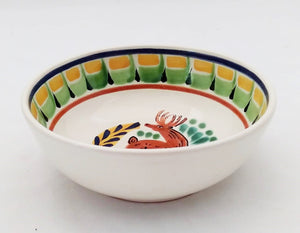 Deer Cereal Bowl 16.9 Oz Yellow-Blue Colors