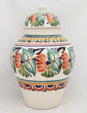 "Decorative Vase 16.5"" H Traditional Green-Terracota-Yellow Colors"