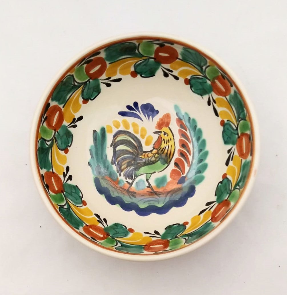 Rooster Cereal/Soup Bowl 16.9 Oz Traditional Multicolor