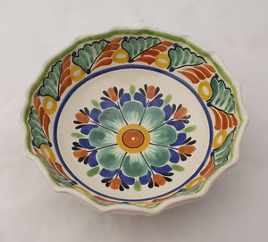 Flower Cereal Bowl Capacity: 16.9 oz Green-Terracota