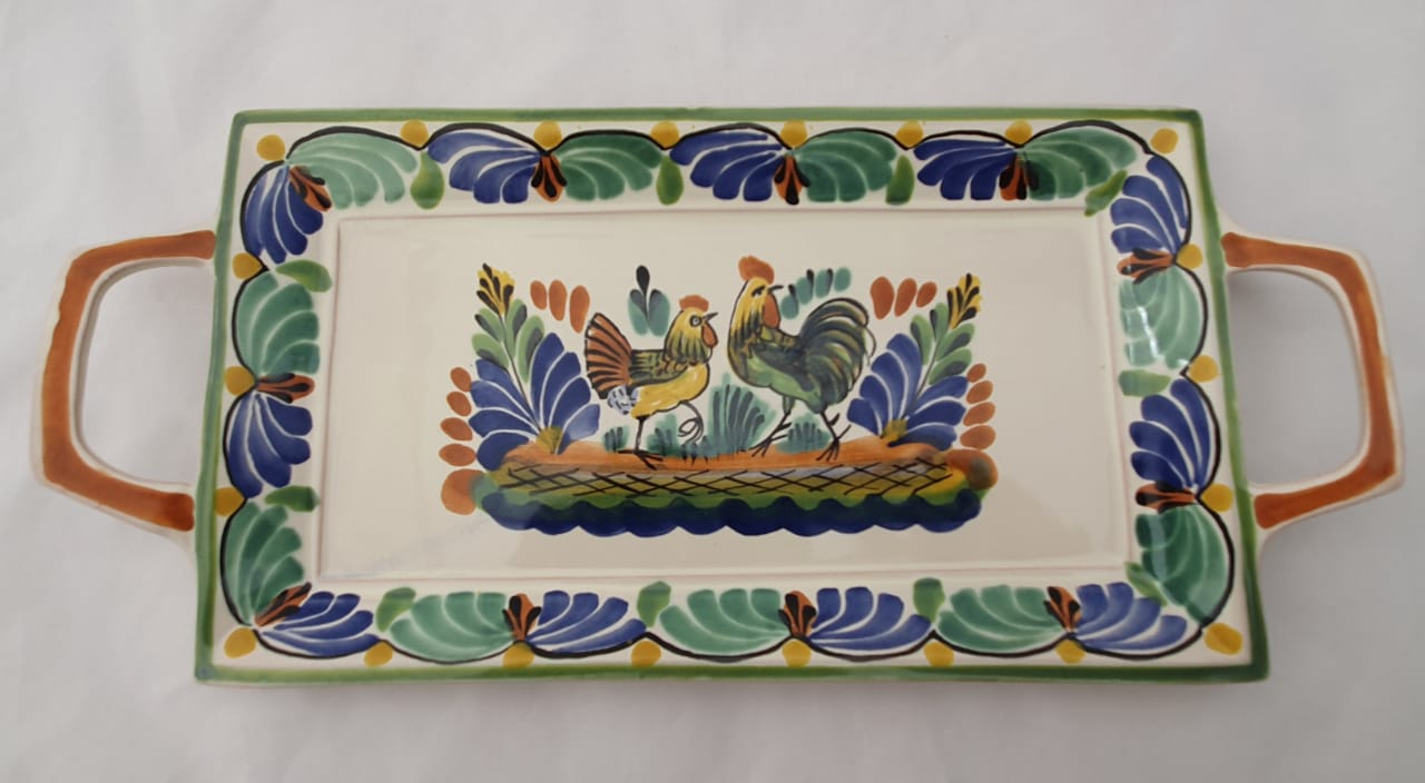 Rooster & Chicken Tray 6.9 X 15