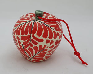"Ornament  Apple 3 X 3"" Red"