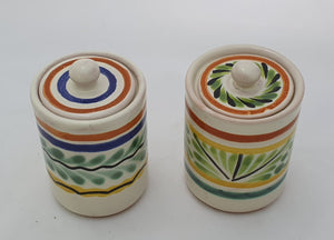 "Mini Spice Container Set 2.1 X 3"""" Green-Yellow"