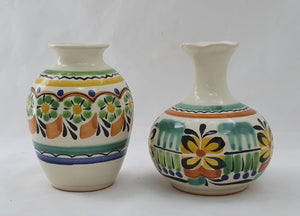 "Flower Vase Set 4.3"" Height Green-Yellow"