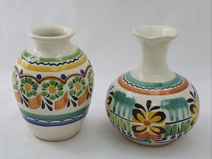 Flower Mini Vase Set (2 pieces) Green-Yellow