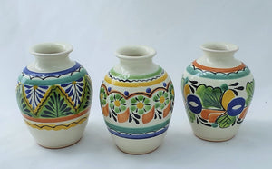 "Flower Mini Vase Tibor 4"" Height Set (3 pieces) MultiColors"