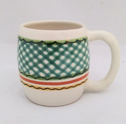 Round Beer Mug 20 Oz Green-Terracota Colors
