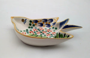 "Bird Small Swallow Dish 6.1 X 4.1"" Green-Terracota - Mexican Pottery by Gorky Gonzalez"