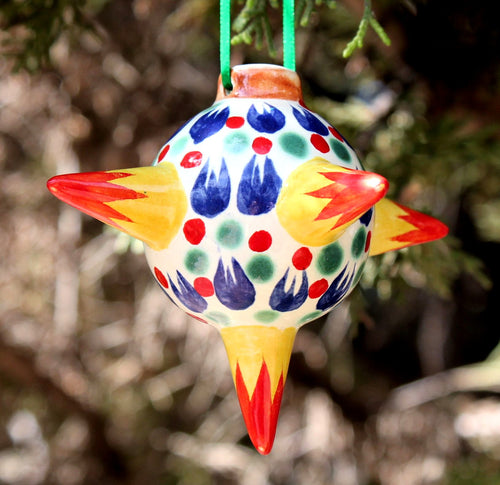 Ornament Piñata Blue-Red-Yellow Colors