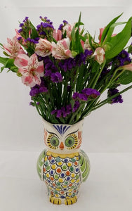 "Owl Flower Vase Set (3 pieces) 7.5"" H MultiColors"