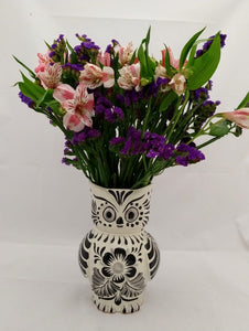 "Owl Flower Vase 7.5"" H Black"