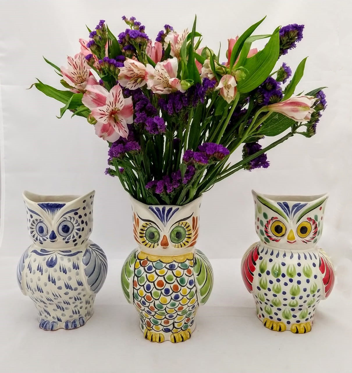 Owl Flower Vase Set (3 pieces) 7.5
