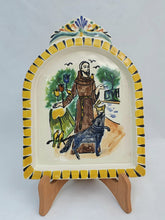 "Saint Francis AltarPiece 8.9"" Height Yellow-Terracota Colors"