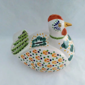 Chicken Bank Yellow-Green-Terracota Colors