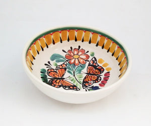 Butterfly Cereal Bowl 16.9 Oz Yellow-Black Colors - Mexican Pottery by Gorky Gonzalez