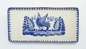 Bird Rectangular Mini Tray 8.7*4.3 in Blue and White