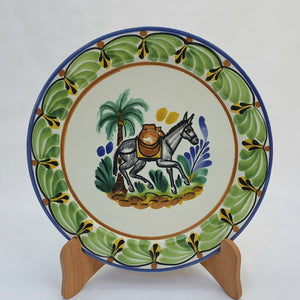 "Donkey Salad Plate 8.7"" D Green-Blue"