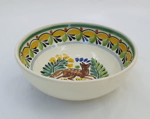Fox Cereal/Soup Bowl 16.9 Oz Multicolor