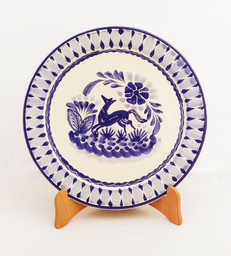 Fox Plates Blue and White