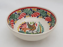 Bird Cereal/Soup Bowl 16.9 Oz Green-Red Colors