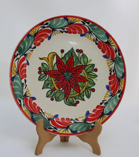 Poinsettia Dish Set (3 pieces) Green-Red Colors (One Service)