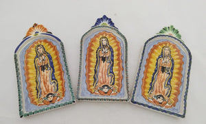 Lady of Guadalupe Decorative AltarPiece MultiColors (Set of 3)
