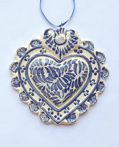 "Ornament Love Heart 5*5"" Blue"