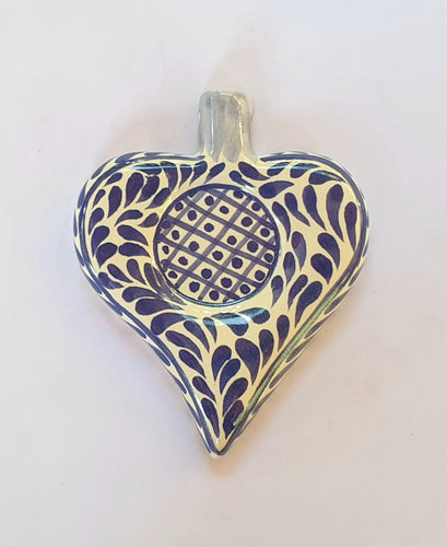 Ornament Heart in Blue