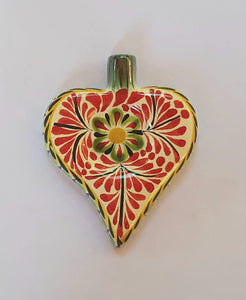 Ornament Heart Red-Green-Black Colors