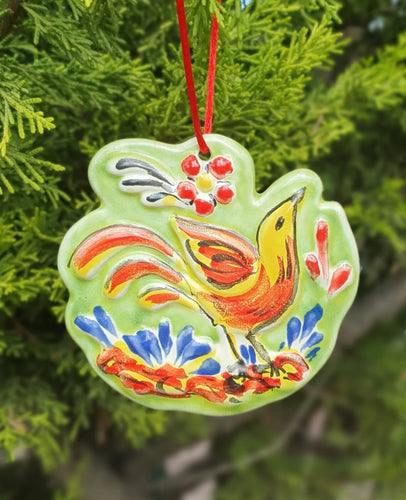 Ornament Bird Yellow-Red