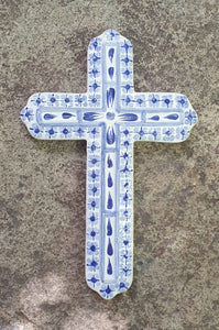 "Medium Cross 9"" Height Blue"