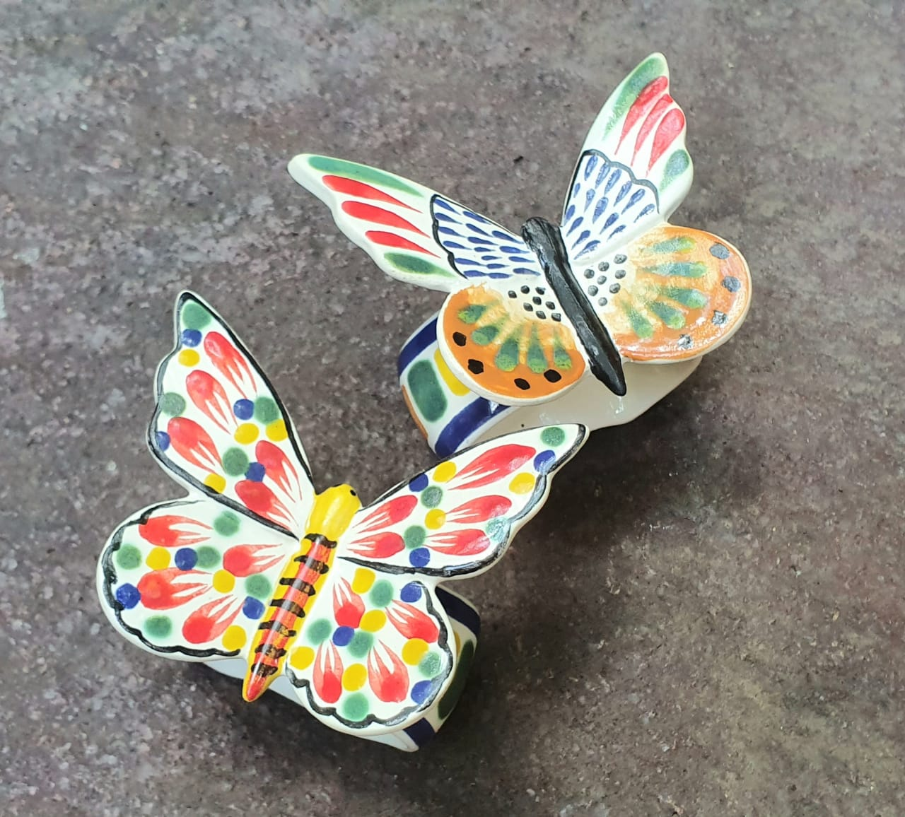Napking Ring Clasic Set of 2 Butterfly Multicolors