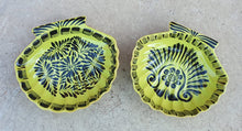 Shell Dish Plate 4.7*5 inches Yellow-Black Colors Set (2 Pieces)