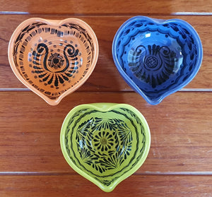 Heart Bowl Small 4.7*4.7 inches Asst Colors Set (3 pieces) Contemporary