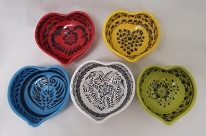 "Heart Bowl Small 4.7*4.7"" Asst Colors Set (5 pieces) Contemporary"