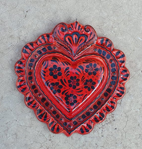 "Ornament Love Heart 5*5"" Red Colors"