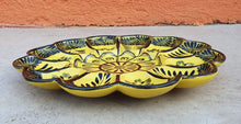 "Deviled Eggs / Snack Plate 10"" D Yellow-Red Contemporary"