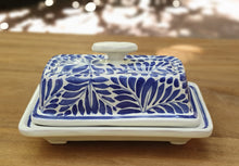 Butter Dish Blue and White - Mexican Pottery by Gorky Gonzalez