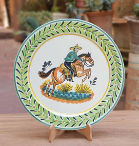 "Cowboy Decorative / Serving Round Platter 13.8"" D Multicolor"