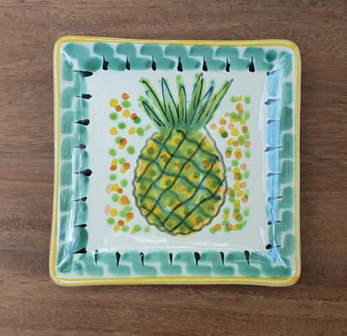 PineApple Bread Square Plate / Tapa Plate 5x5