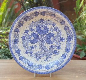 Decorative Platters Little Flower Pattern Blue and White