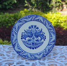 Love Birds Plates Blue and White