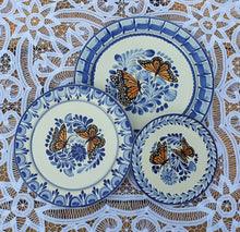Butterfly Plates Set (3 pieces) MultiColors - Mexican Pottery by Gorky Gonzalez