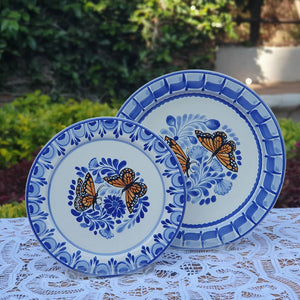 Butterfly Plates Set Dinner and Salad (2 pieces) MultiColors