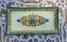 "Flower Tray Large Rectangular Plate 15*7.5"" MultiColors"