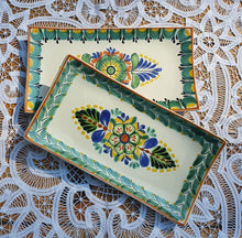 "Flower Tray Small Rectangular Plate 11*5.7"" SET (2 pieces) MultiColor"