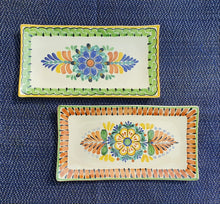 "Tray Large Rectangular Plate 15*7.5"" Set (2 pieces) MultiColors"