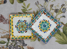 "Flower Bread Square Plate / Tapa Plate 5*5"" Set of 2 MultiColors"